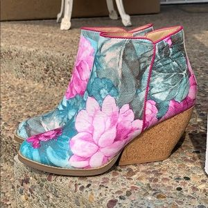 Very Volitile Floral Booties